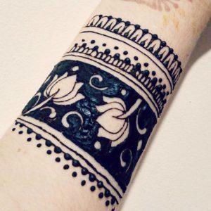 Henna on my wrist